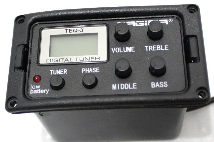 Captador de Violão Tagima TEQ-3 com Afinador e Equalizador 3 Bandas