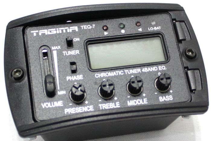 Captador de Violão Tagima TEQ-7 com Afinador e Equalizador 4 Bandas