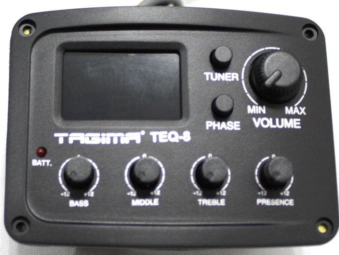 Captador de Violão Tagima TEQ-8 com Afinador e Equalizador 4 Bandas