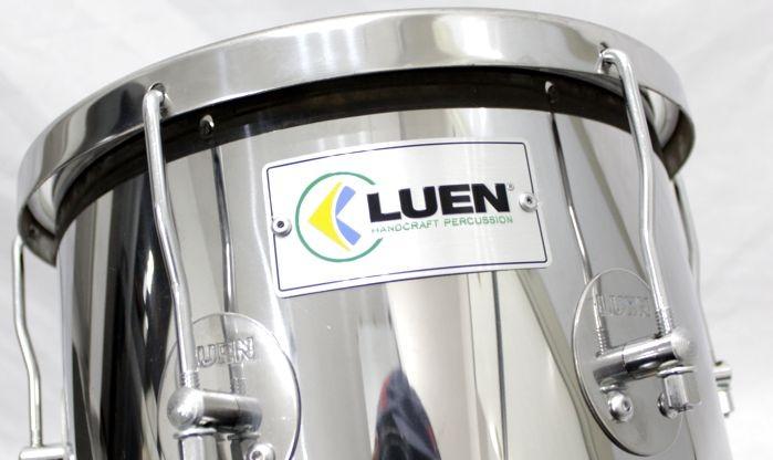 Repique de Mão INOX Guetto 30 X 11 Pele Leitosa - 11 POL Diametro X 30 CM Altura - Luen - 49017