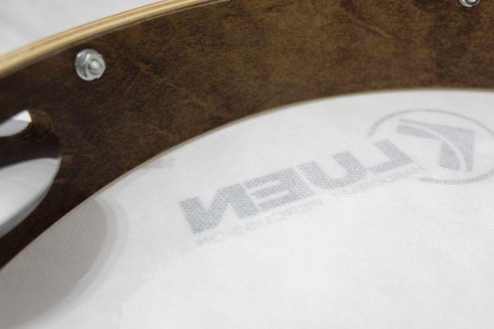 Pandeiro Guetto 12 ARO Madeira Imbuia Pele Double Máster Afinação Simples - Luen - 49054 - Pele Master Control