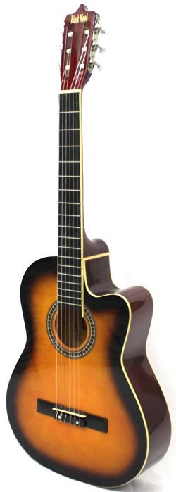 Violão Austin Clássico NYLON com CUT WAY MAG5 Sumbursth - BLACK Wood - com Capa Simples
