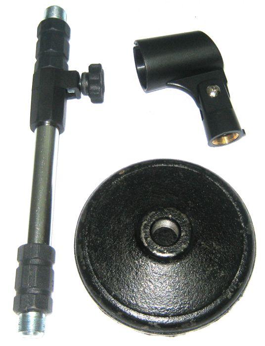 Mini Pedestal de Microfone de Mesa Reto Telescópico - Visão VPS2