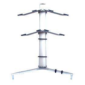 Suporte STAY Torre Aluminio para 2 Teclados 110CM de Altura com BAG 1100/2 Prata Torre