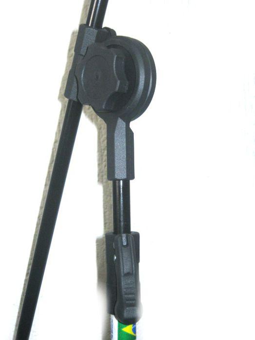 Pedestal de Microfone Visão para 2 MICS com 2 Cachimbos VPE3BK