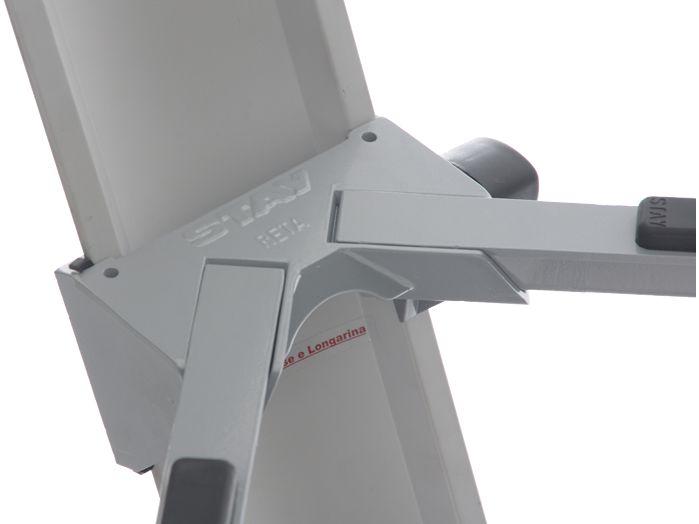Suporte STAY Torre Aluminio para 3 Teclados 120 CM de Altura com BAG 1300/3 Prata