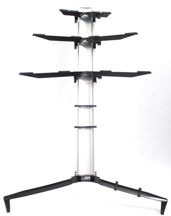Suporte STAY Torre Aluminio 3 Bases - 2 Teclados e 1 Notebook - 120CM de Altura com BAG 1300/3 Prata