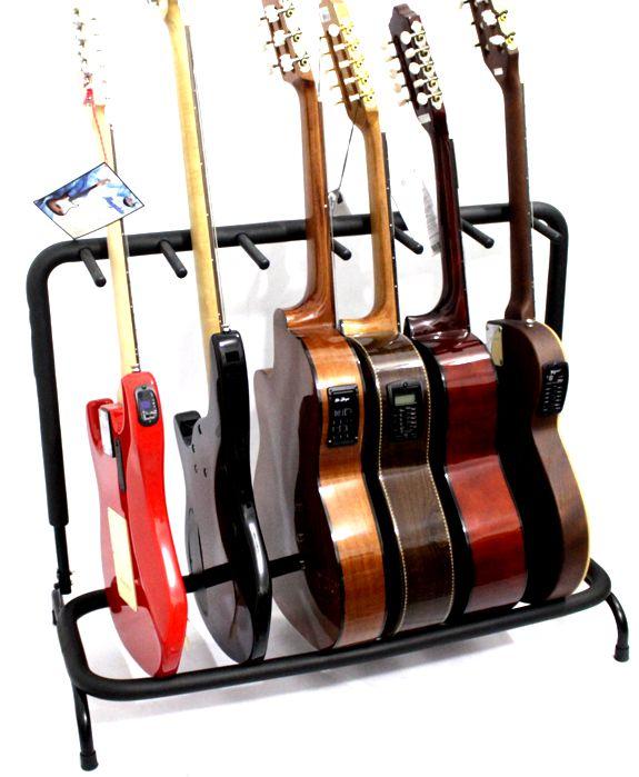 Suporte 6 Instrumento para Guitarra Violão Baixo Viola Caipira e Outros - Custom - (apenas o Suporte)