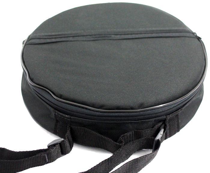 Capa CRBAG Luxo para Pandeiro 10, Redonda,  Ziper Lateral e UMA ALÇA para OMBRO  CRBAG