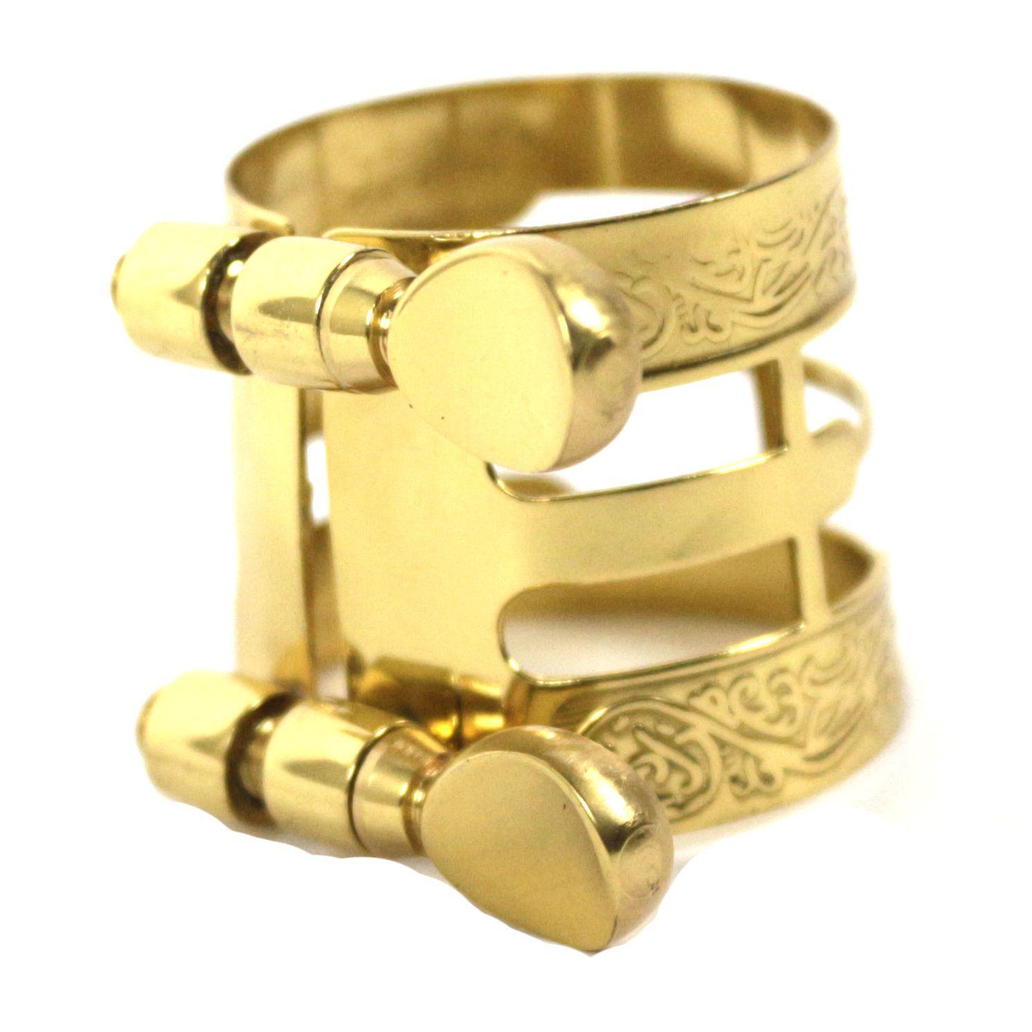 Abraçadeira para SAX ALTO Dourada Esculpida - Dinhos