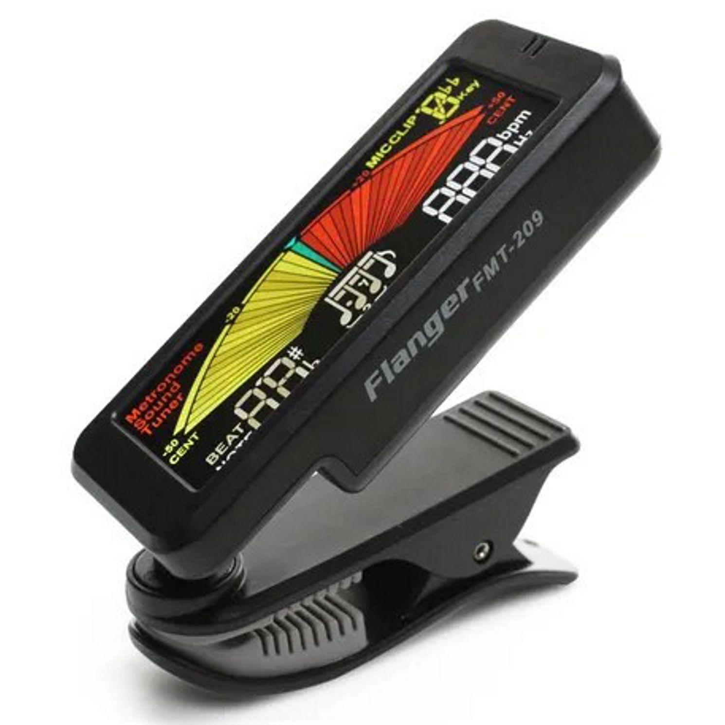 Afinador Eletronico Cromatico CLIP com Metronomo Flanger FMT-209