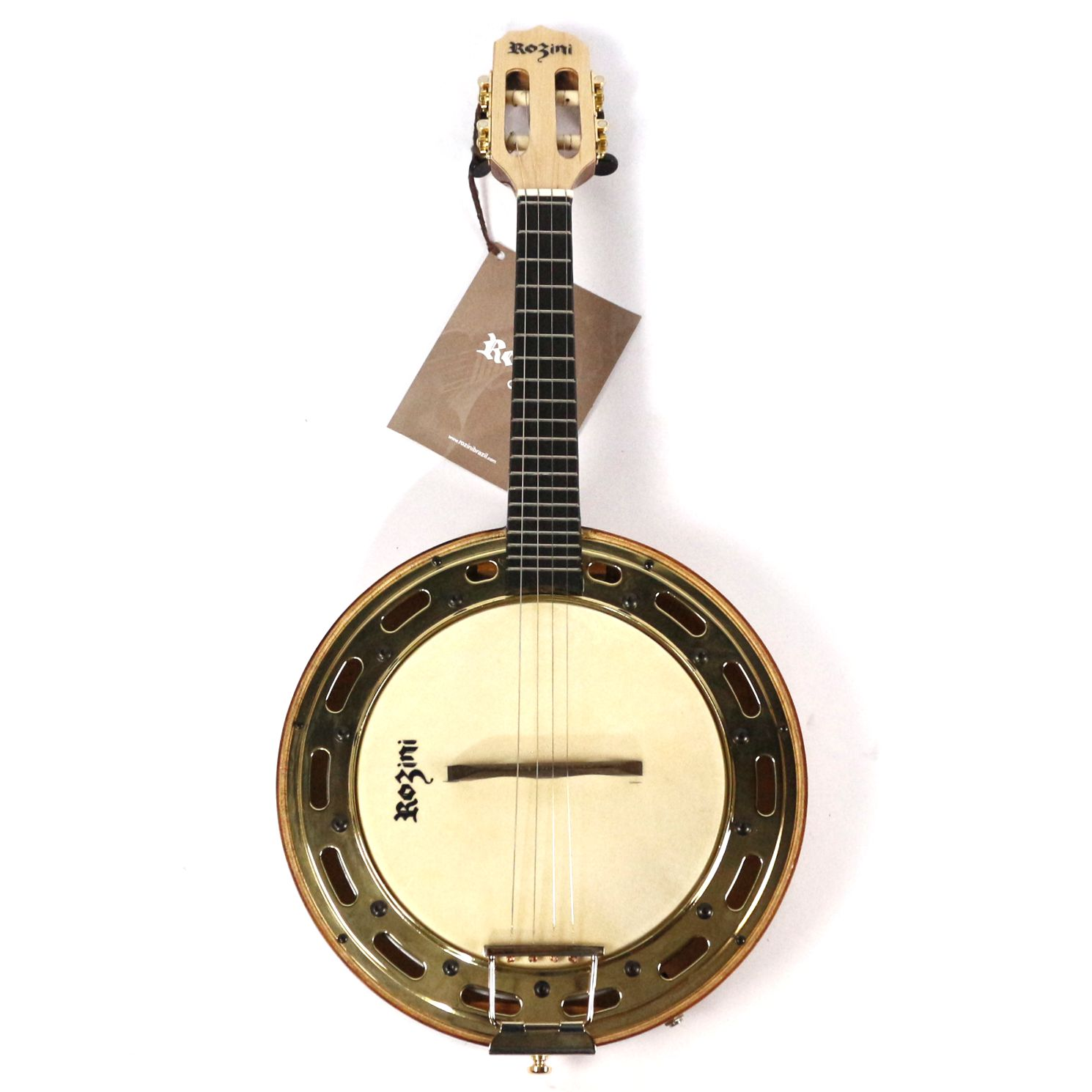 Banjo Profissional Elétrico Claro Rozini RJ13.EL.N.MP