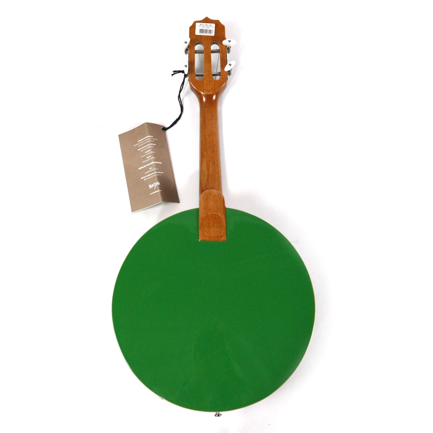 Banjo Rozini Studio Verde Brilhante Elétrico RJ11ELV
