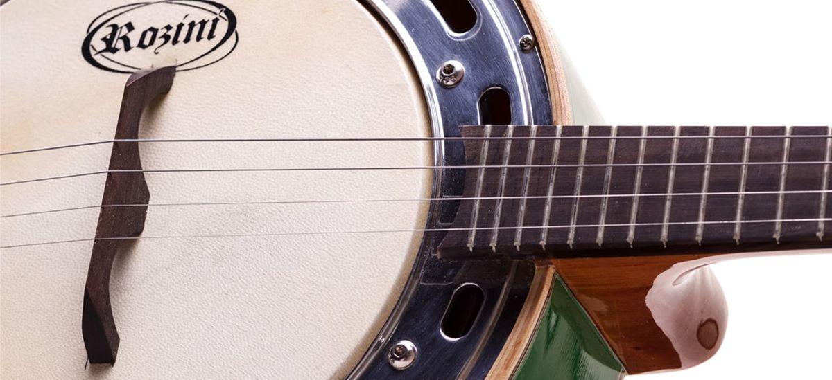 Banjo Rozini Studio Verde Eletrico com Capsula de Microfone RJ11ELV
