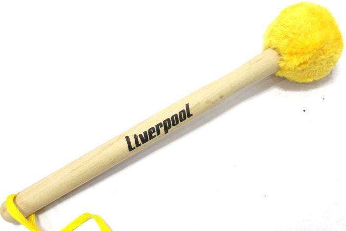 Baqueta Liverpool Maçaneta para Bumbo com Bola Revestida com Pelúcia Amarela - Unidade