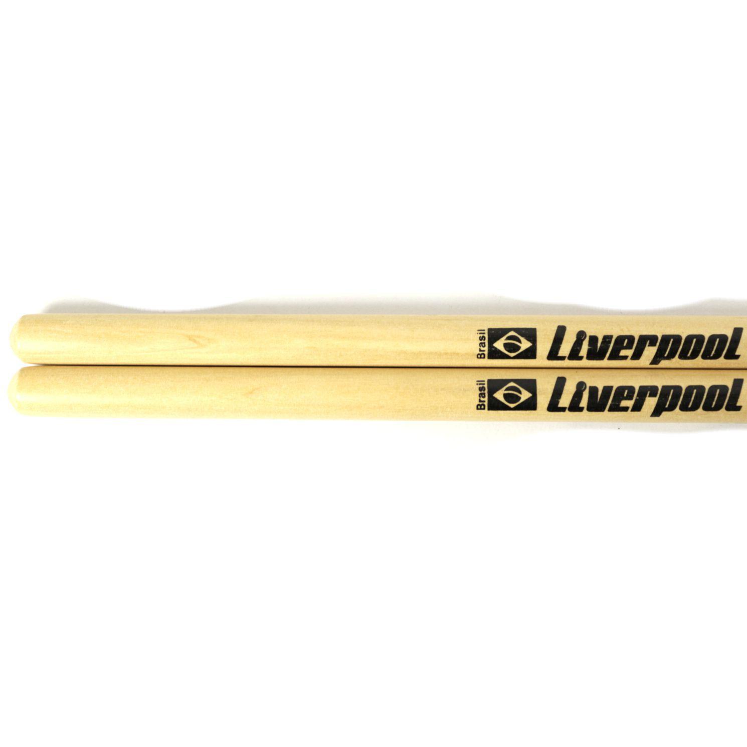 Baquetas 5A em Marfim Liverpool Classic Series Ponta de NYLON LL 5AN - Pacote com 05 Unidades