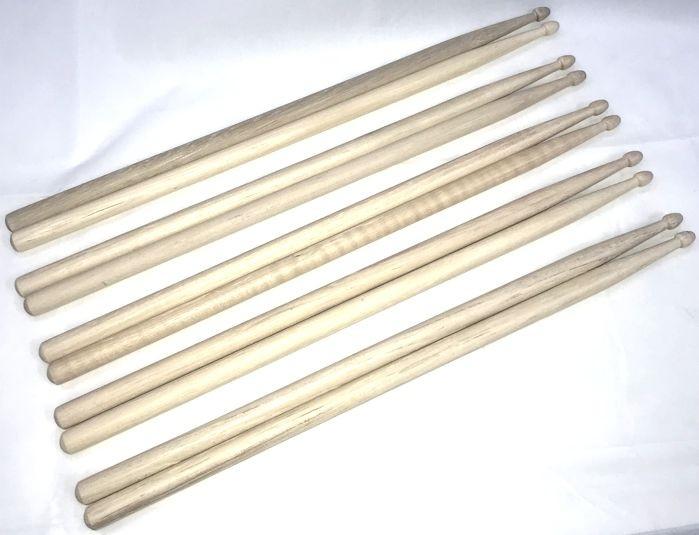 Baquetas 7A em Hickory Liverpool American Wood - Ponta de Estoque -  HY TERC7A - Pacote com 5 Pares