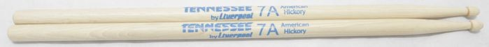 Baquetas 7A em Hickory Tennessee BY Liverpool Ponta de Madeira TNHY 7AM - Pacote com 10 Pares