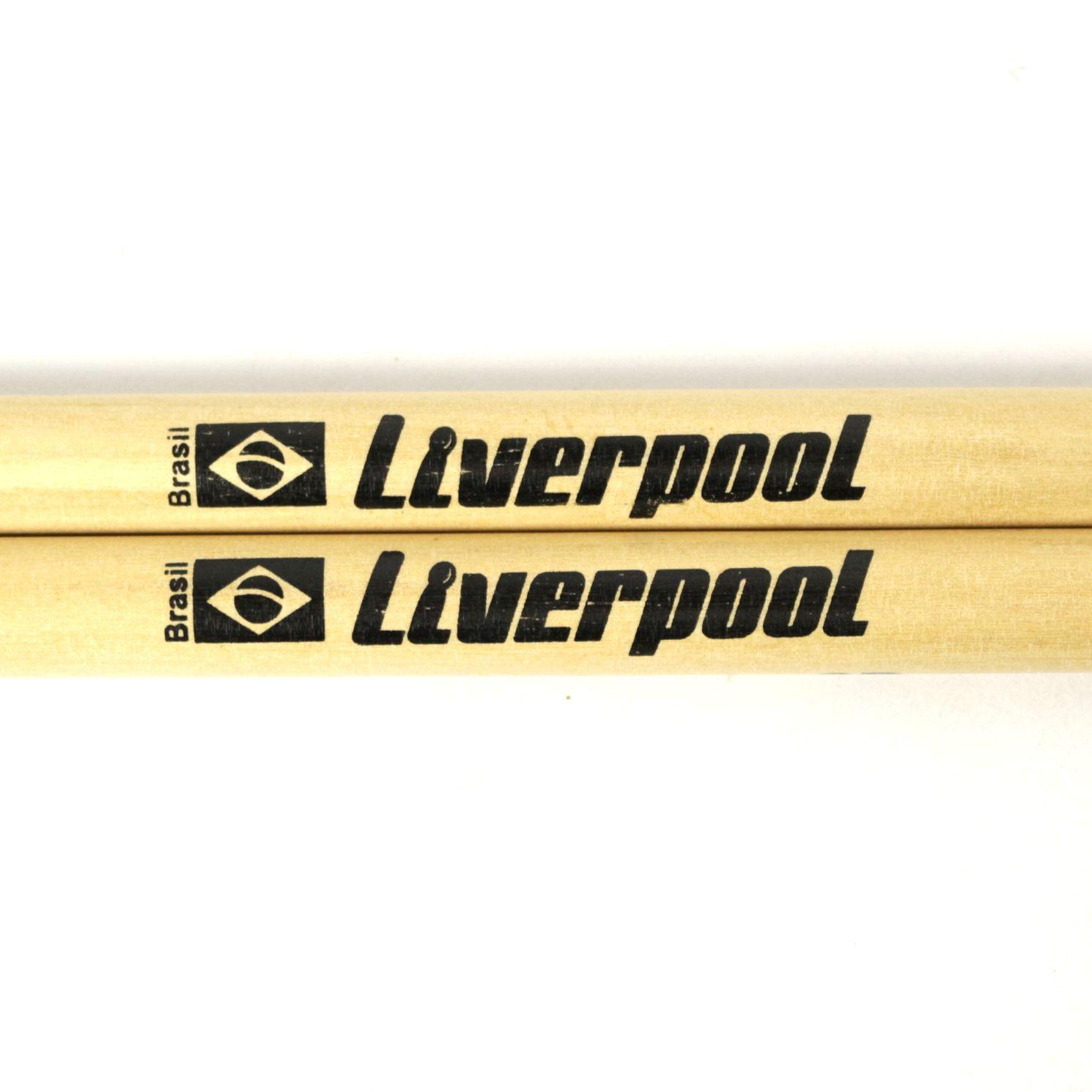 Baquetas 7A em Marfim Liverpool Classic Series Ponta de NYLON LL 7AN - Pacote com 05 Pares
