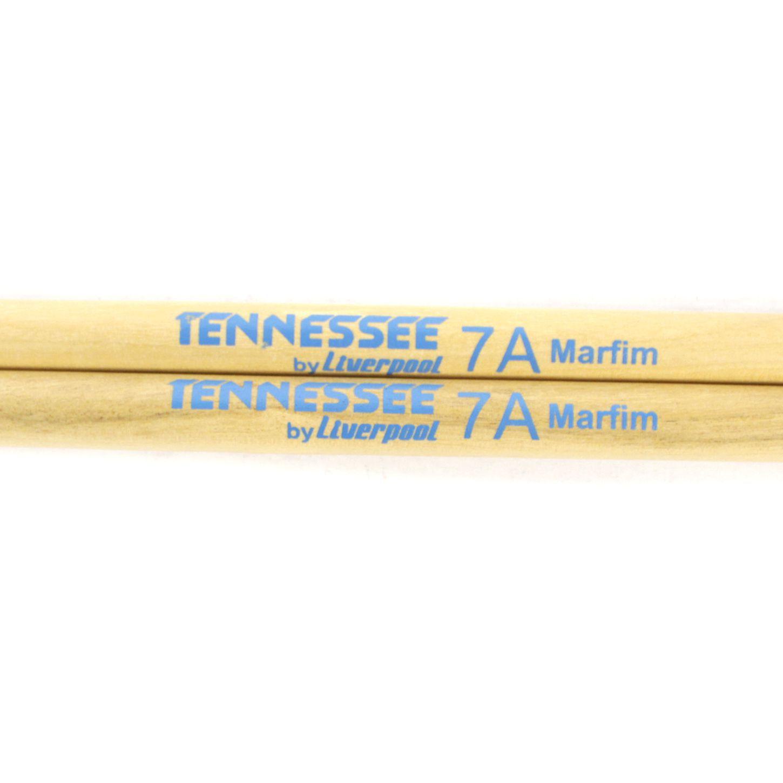 Baquetas 7A em Marfim Tennessee BY Liverpool Ponta de Madeira TN 7AM Pacote com 10 Pares
