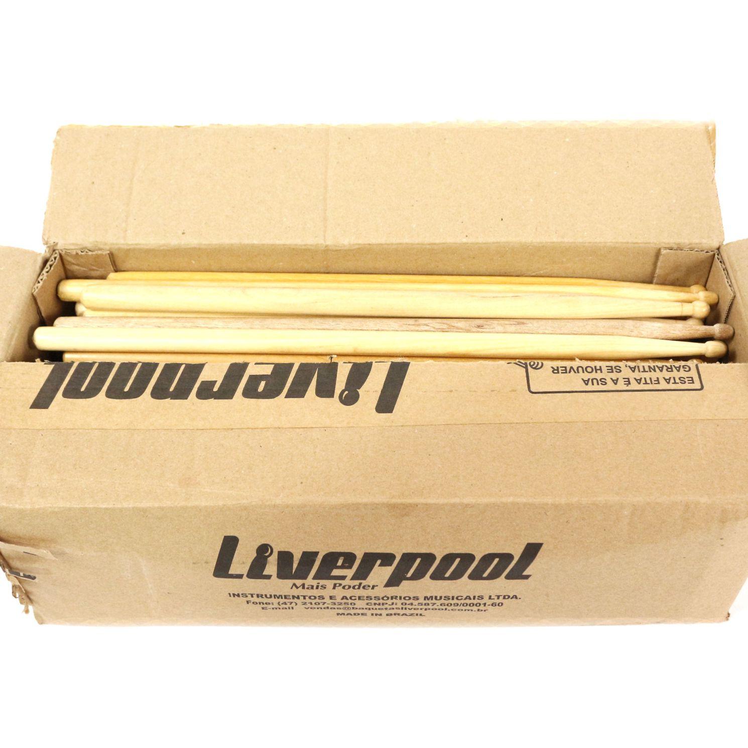 Baquetas Liverpool Ponta de Estoque - Caixa com 100 Unidades Sortidas