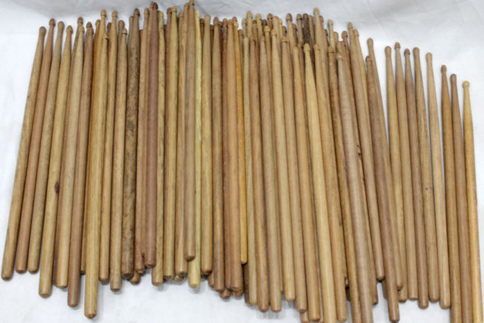Baquetas Liverpool Ponta de Estoque Jatoba - Caixa com 100 Unidades Sortidas Jatoba