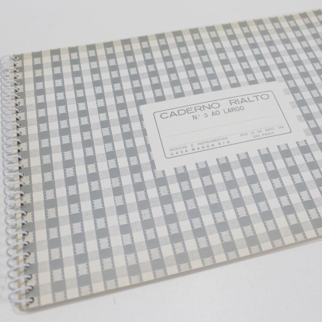 Caderno de Musica Grande 80 Páginas com Pauta / Pentagrama (40 Folhas) - Pacote com 05 Unidades - Ponta de Estoque