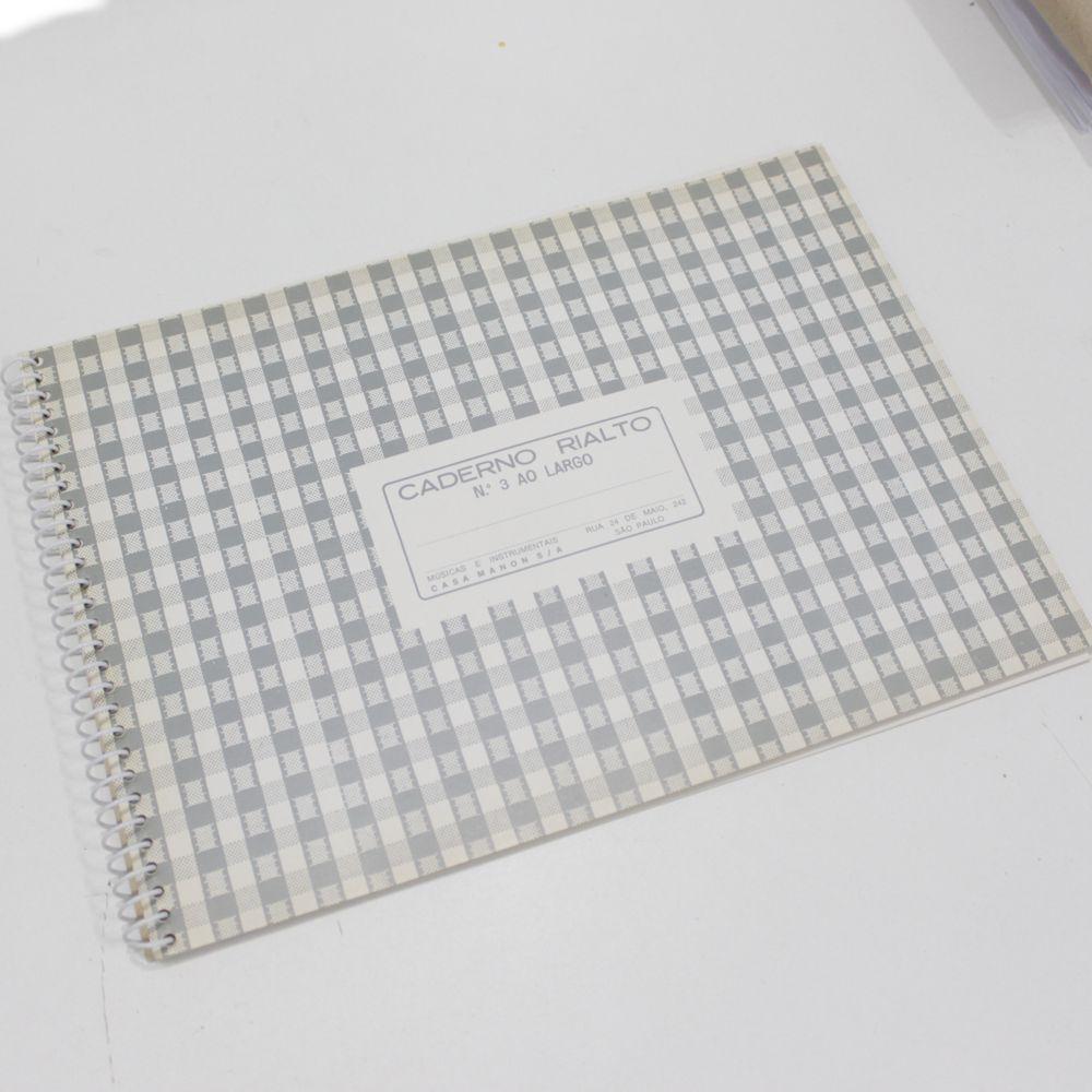 Caderno de Musica Grande 80 Páginas com Pauta / Pentagrama (40 Folhas) - Pacote com 10 Unidades - Ponta de Estoque