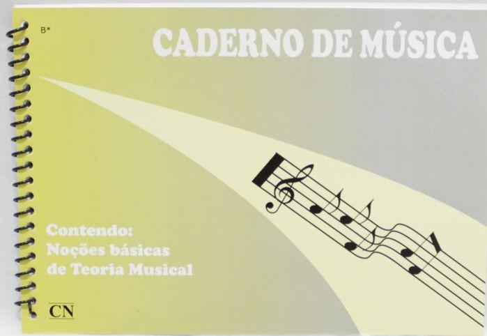 Caderno de Musica pequeno 74 páginas com Pauta / pentagrama (37 FOLHAS) - PACOTE COM 10 UNIDADES