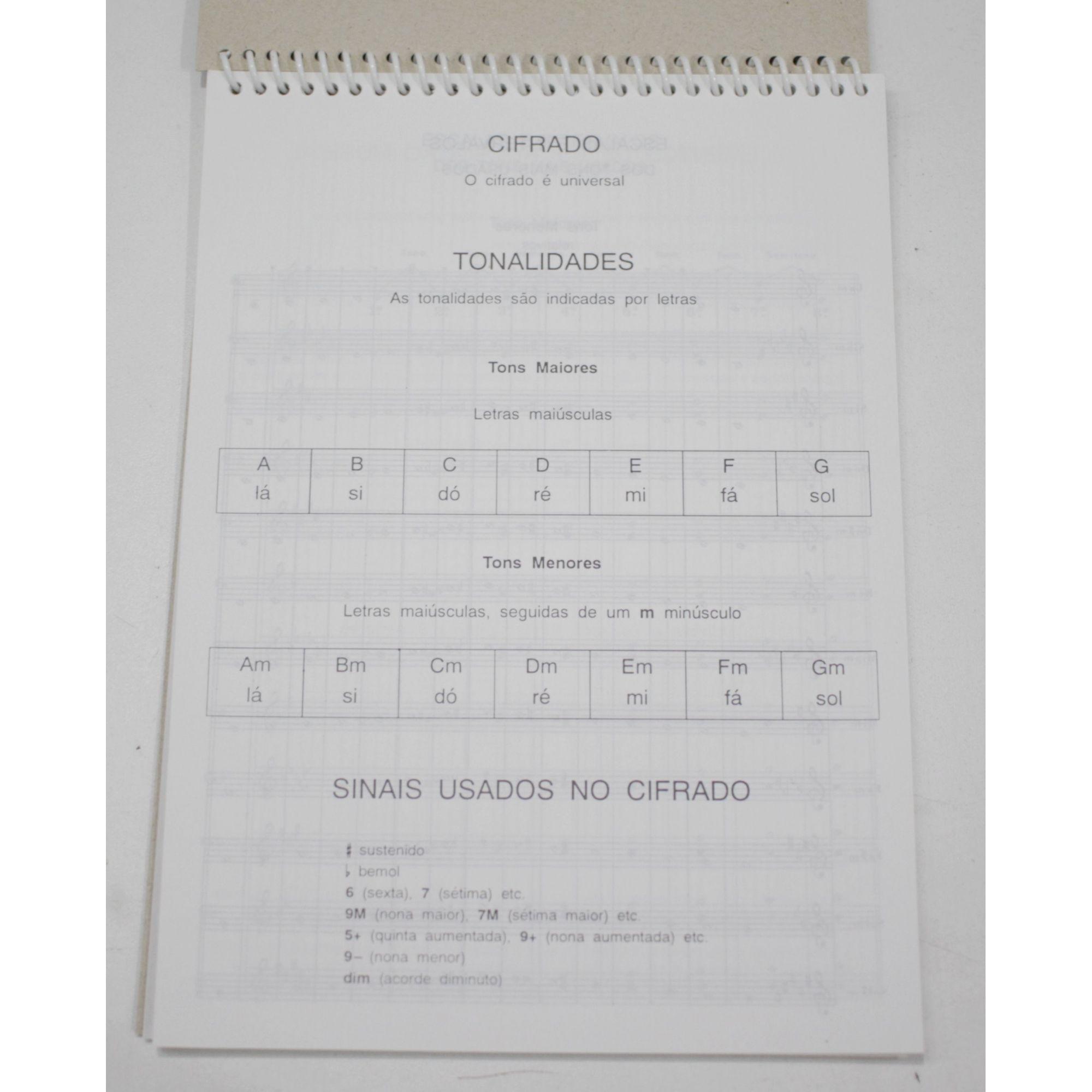 Caderno de Musica Pequeno 68 Páginas com Pauta / Pentagrama (34 Folhas) - Pacote com 10 Unidades