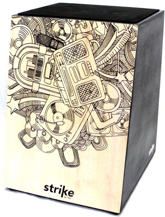 Cajon FSA Inclinado Strike Sixties Acústico SK4000