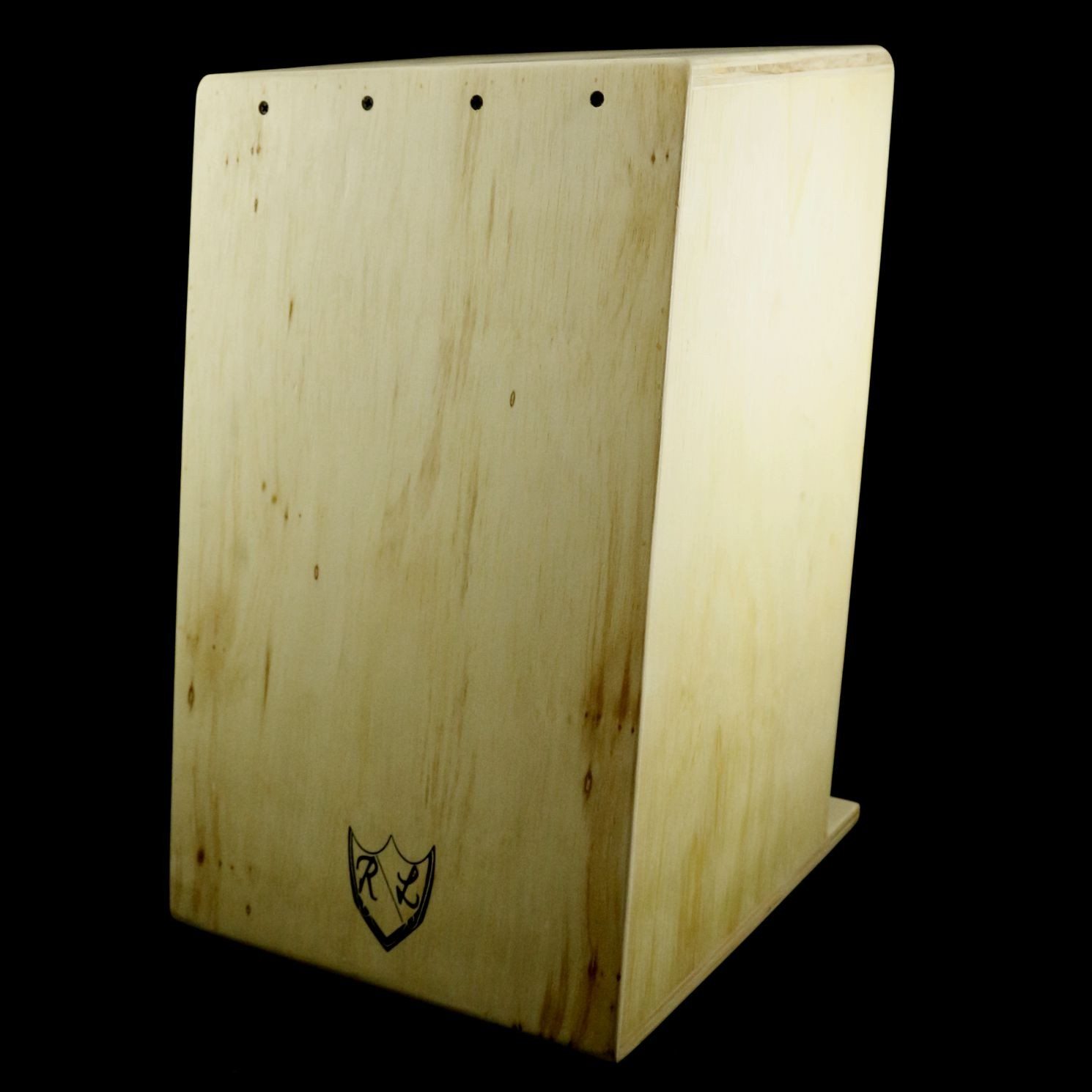 Cajon Real Line RAW Liso Inclinado Acústico Marfim
