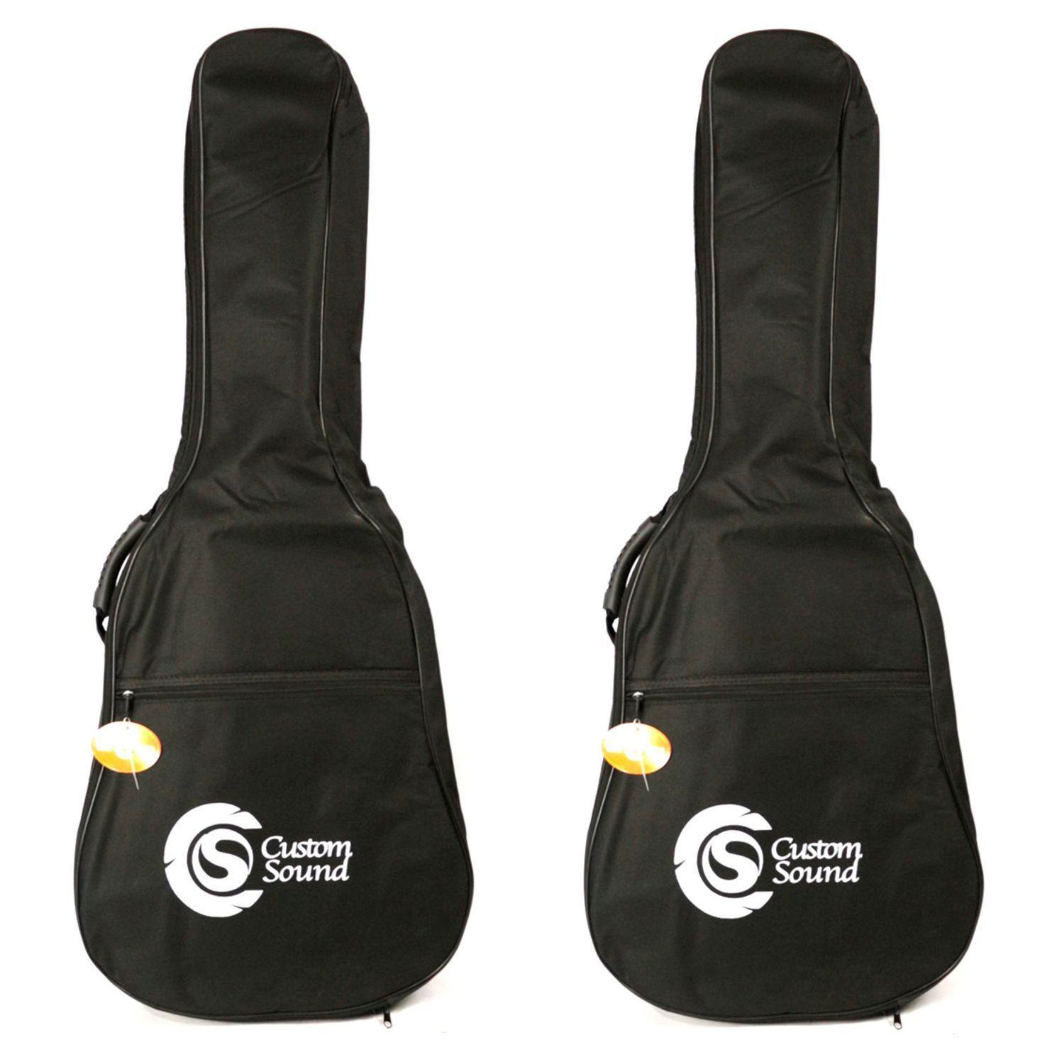 Capa Custom Sound Luxo para Violão FOLK - Preta CVF1-BK 02 Unidades