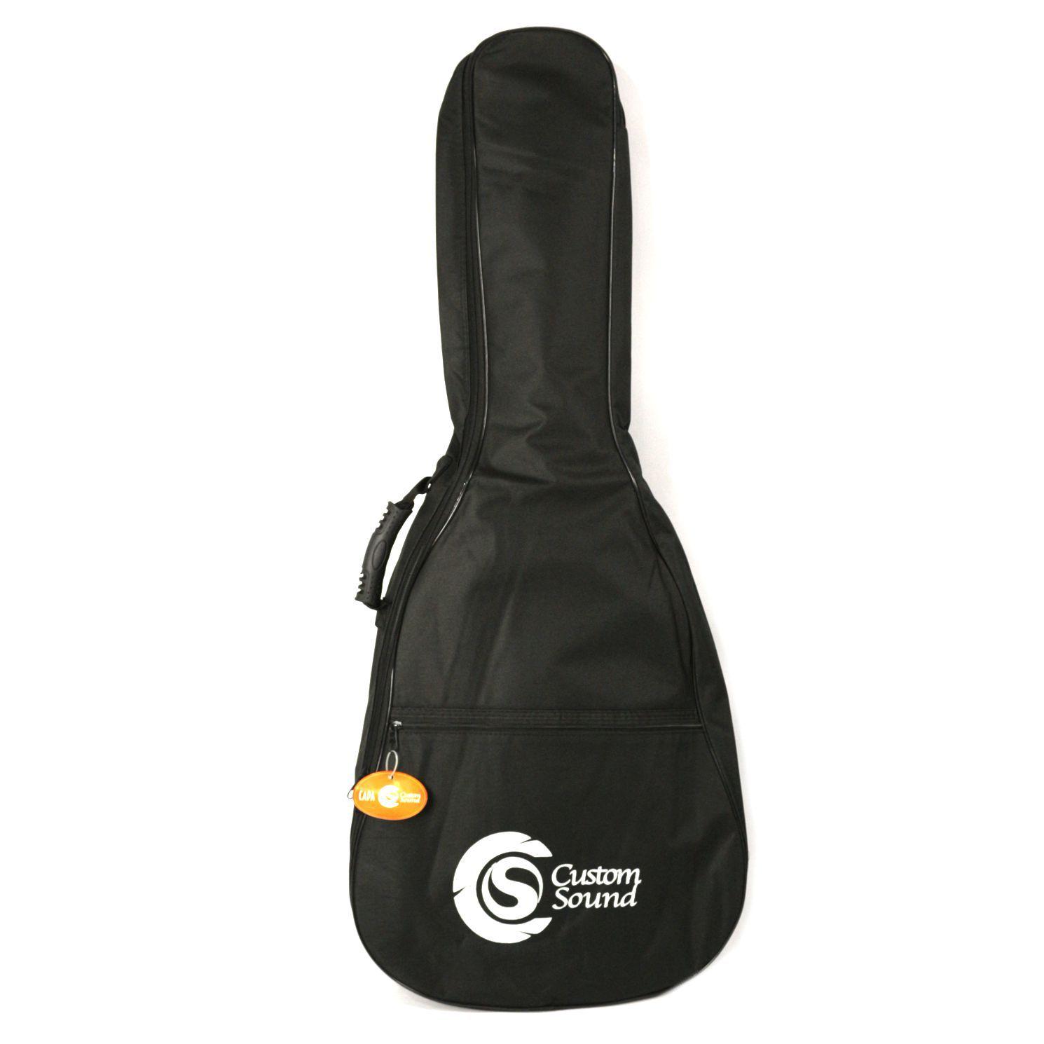 Capa Custom Sound Luxo para Violão FOLK - Preta CVF1-BK