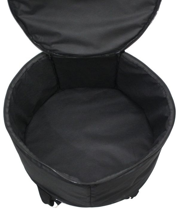 Capa JS EXTRA Luxo para Zabumba 18 X 7 - Ziper Lateral, Bolso Frontal e ALÇA para Mochila