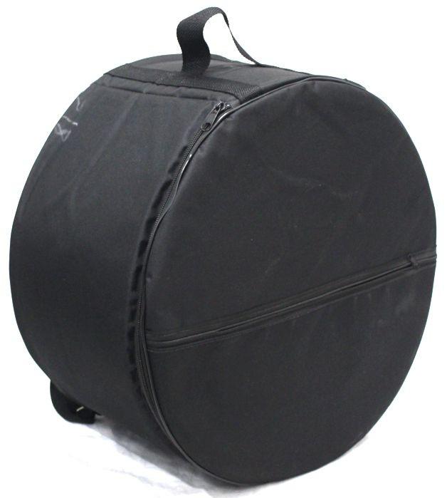 Capa JS EXTRA Luxo para Zabumba 20 X 7 - Ziper Lateral, Bolso Frontal e ALÇA para Mochila