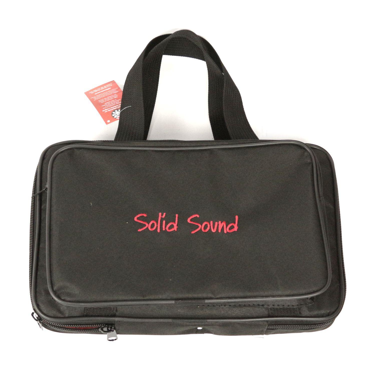 Capa Solid Sound Case para Microfone com Fio Bolso Frontal, Zíper Lateral, Bolso Traseiro e ALÇA de Mãos