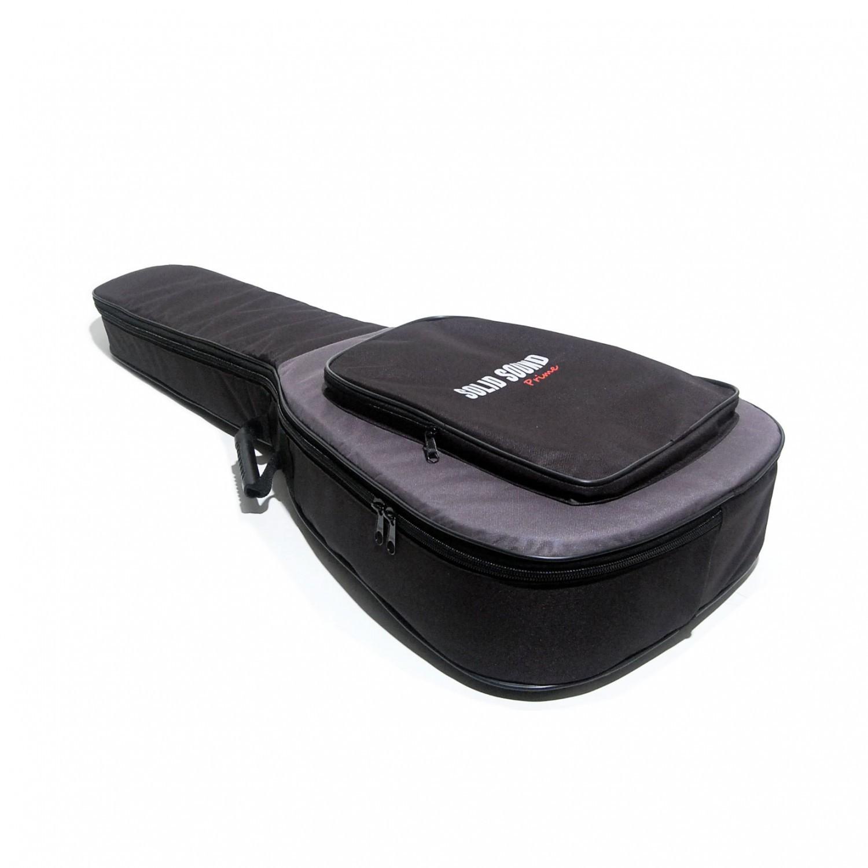 Capa Solid Sound EXTRA Luxo Prime para Violão FOLK NO Formato Ziper Lateral Bolso Frontal e ALÇA para Mochila