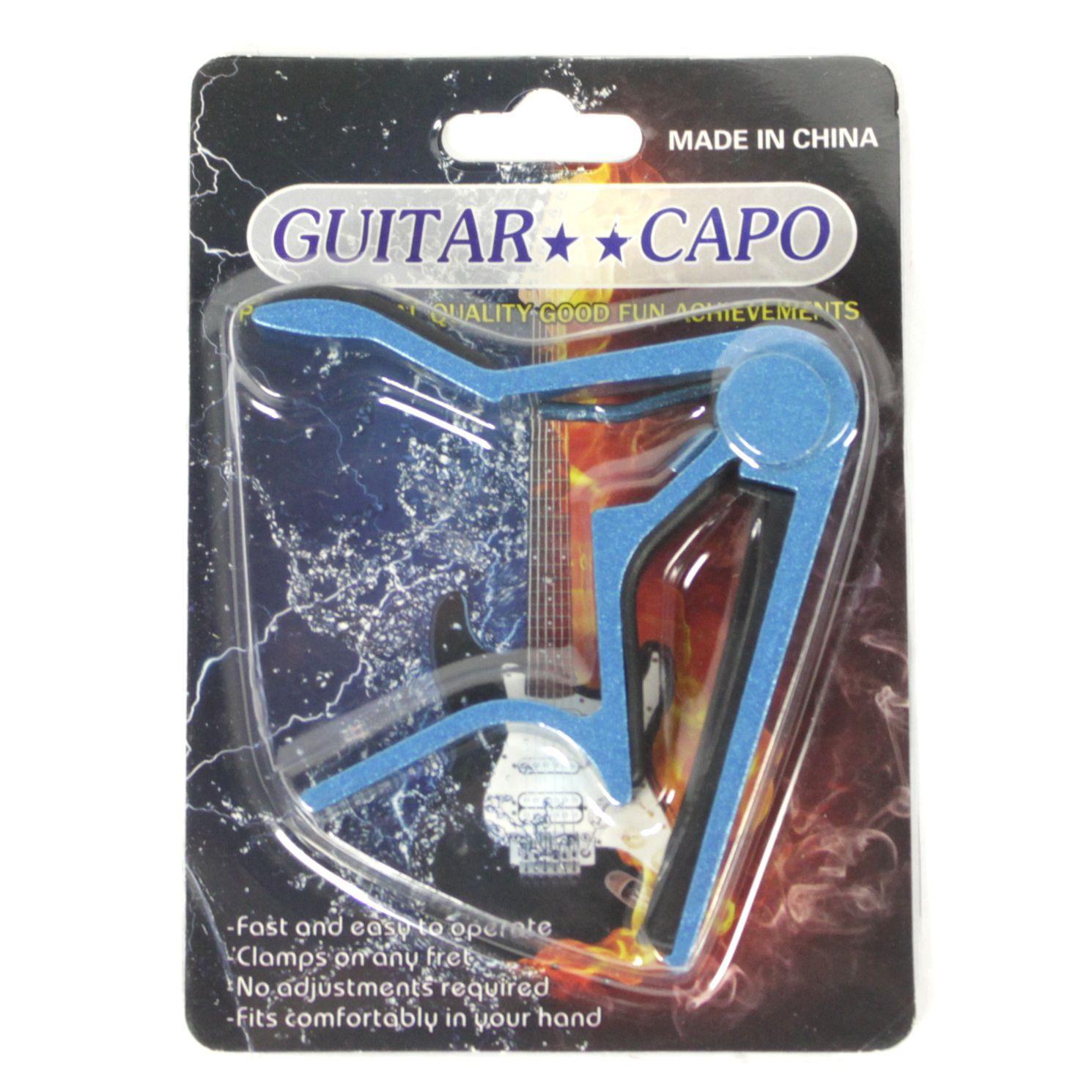 Capotraste de Guitarra e Violão AÇO e NYLON em Metal - AZUL