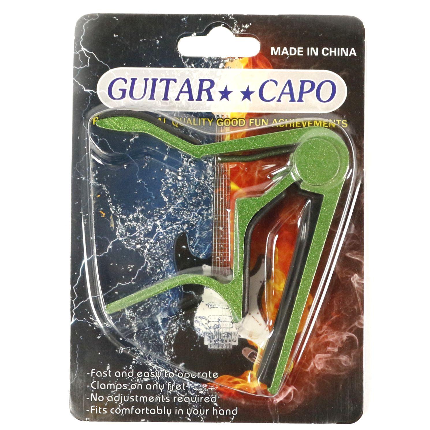 Capotraste para Guitarra e Violão AÇO em Metal Guitar Capo - Verde
