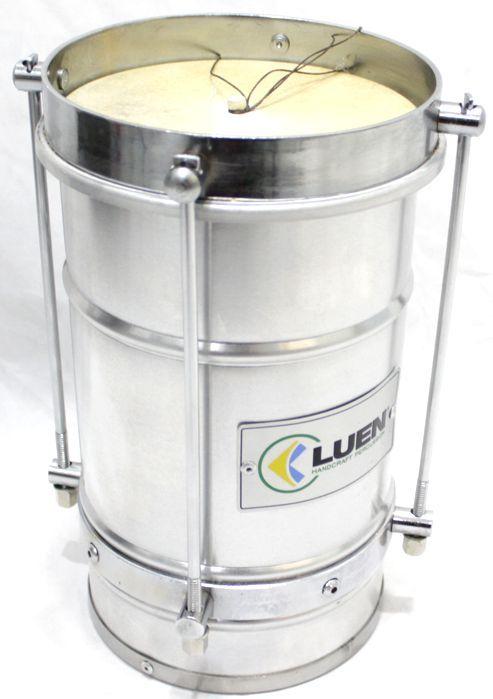 Cuica de 6 X 10 da Luen em Aluminio e Pele Animal - 30001