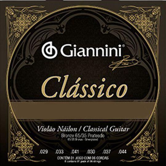Encordoamento Giannini Classico NYLON - Cordas de NYLON para Violão