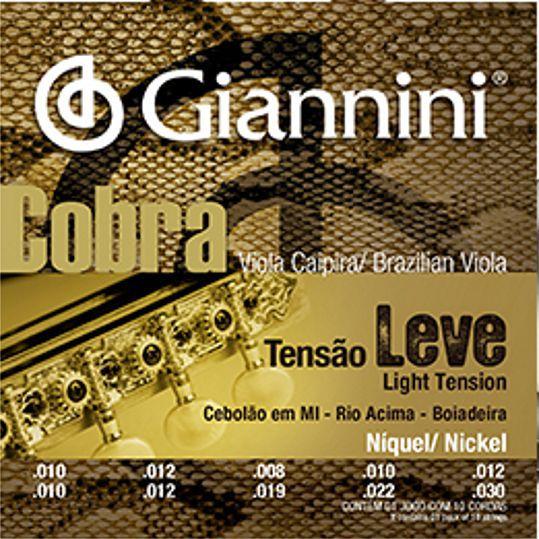Encordoamento Giannini Cobra Viola Caipira - Cordas Níquel Viola Caipira - GESVNL Nickel