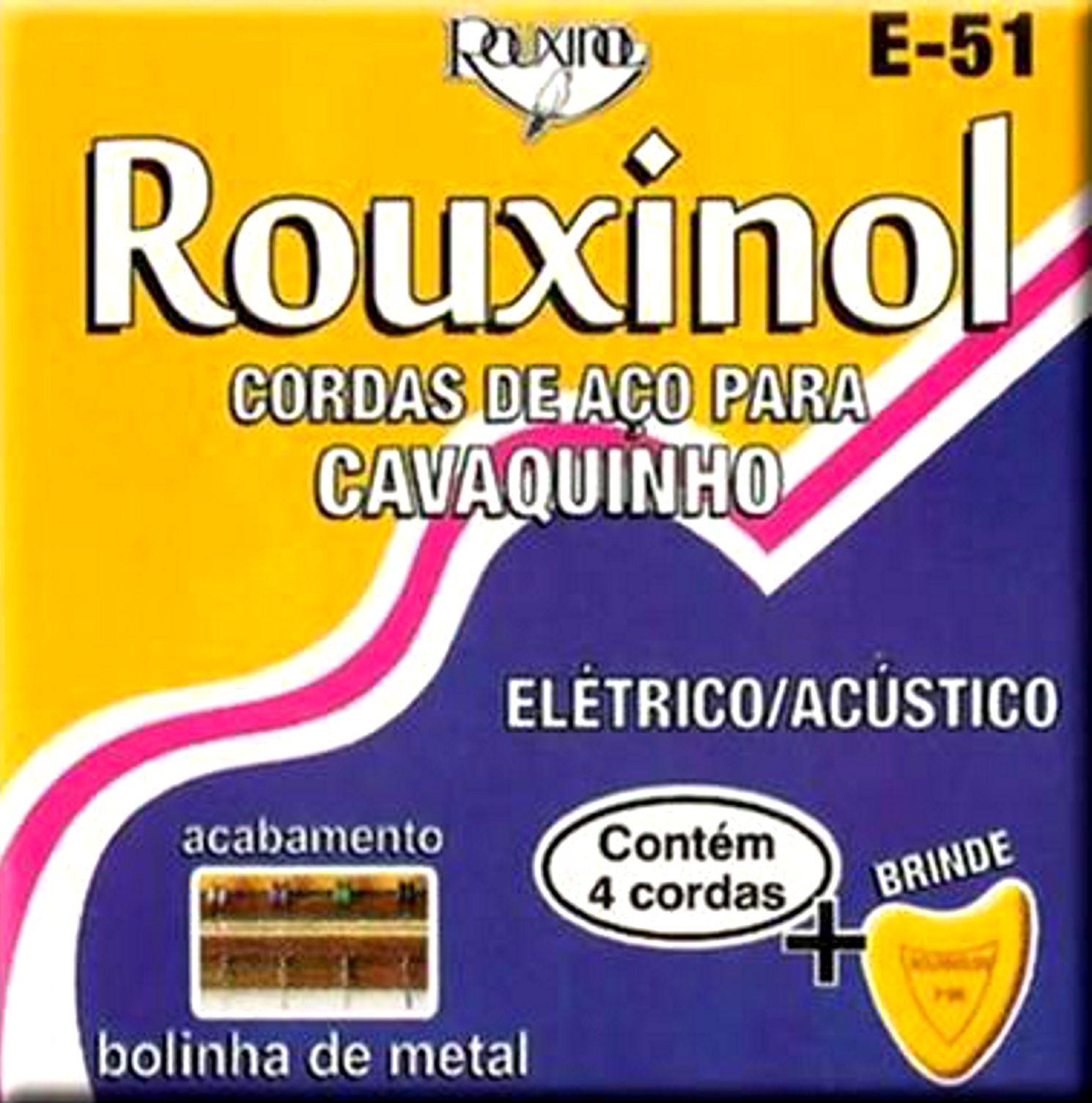 Encordoamento para Cavaquinho AÇO Rouxinol E-51 com Palheta - 04 Jogos