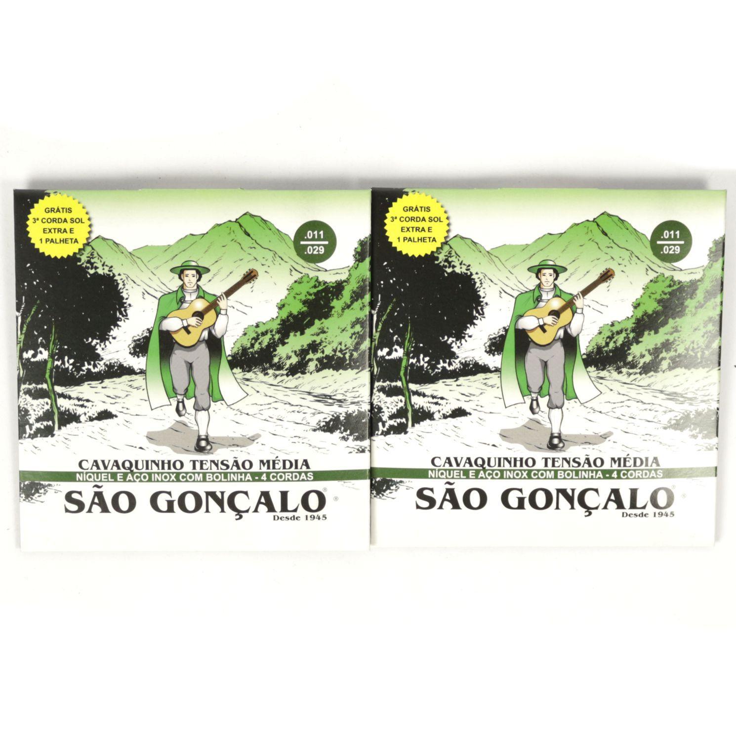 Encordoamento para Cavaquinho São Gonçalo IZ 0131 com SOL EXTRA e Palheta - 02 Unidades