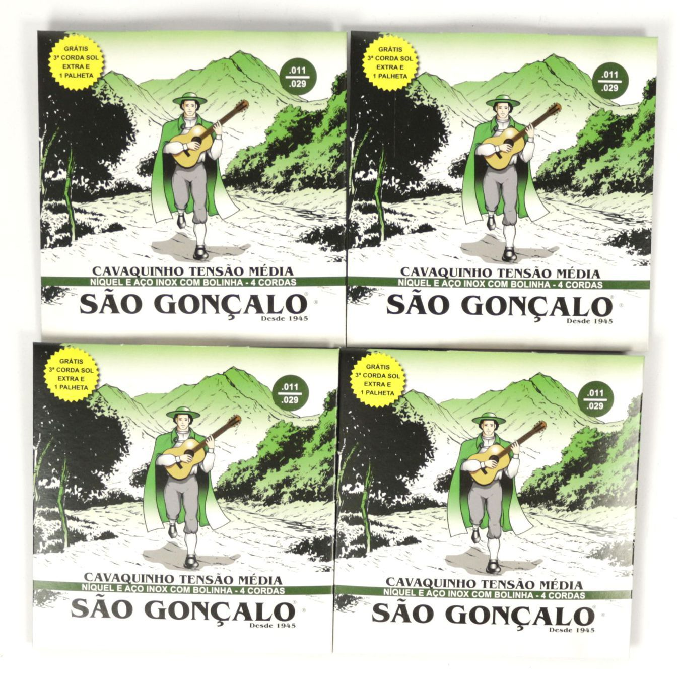 Encordoamento para Cavaquinho São Gonçalo IZ 0131 com SOL EXTRA e Palheta - 04 Unidades