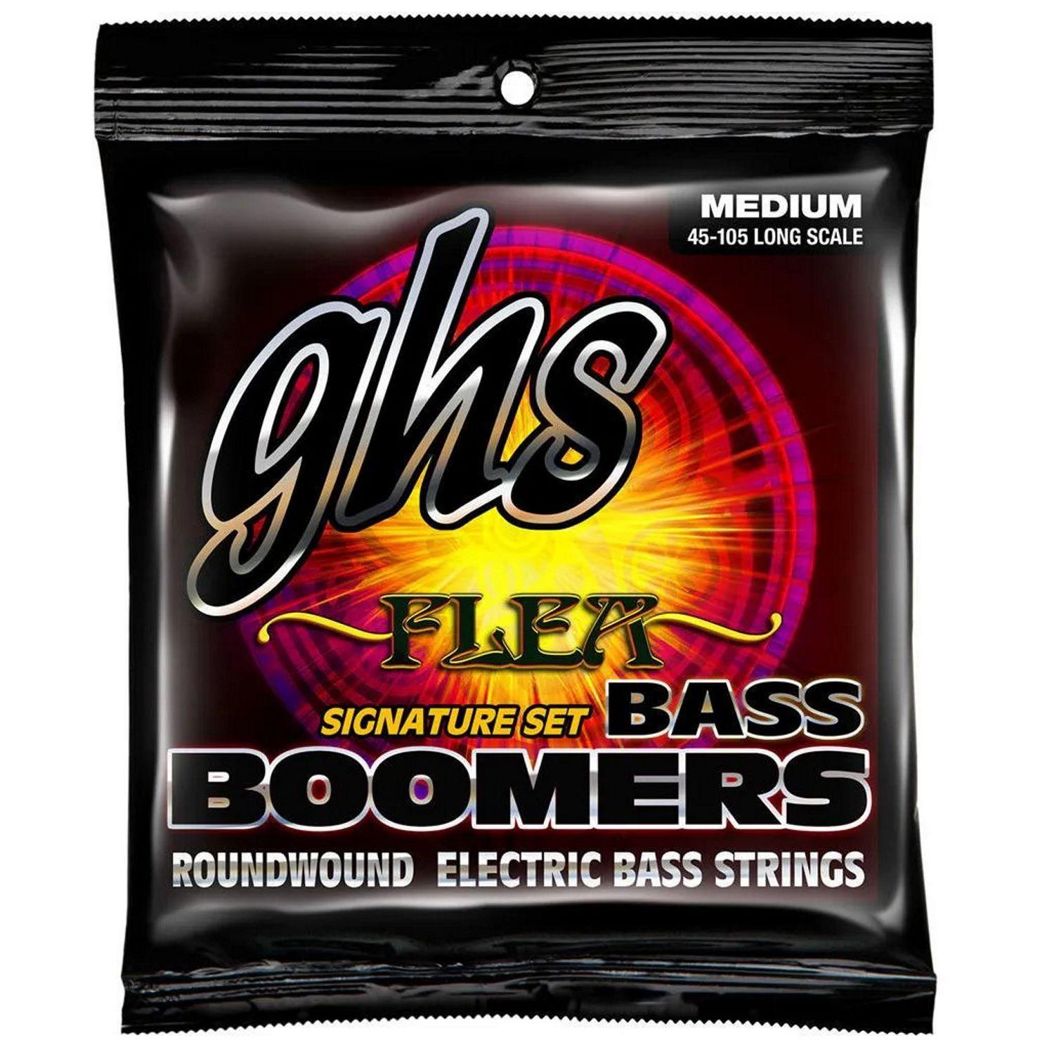 Encordoamento para Contra Baixo 4 Cordas GHS BASS Boomers Roundwound Flea Signature SET .045 - M3045F