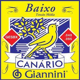 Encordoamento para Contra Baixo Canário Giannini 4 Cordas .040 - GESBX - Pacote com 3 Encordoamentos