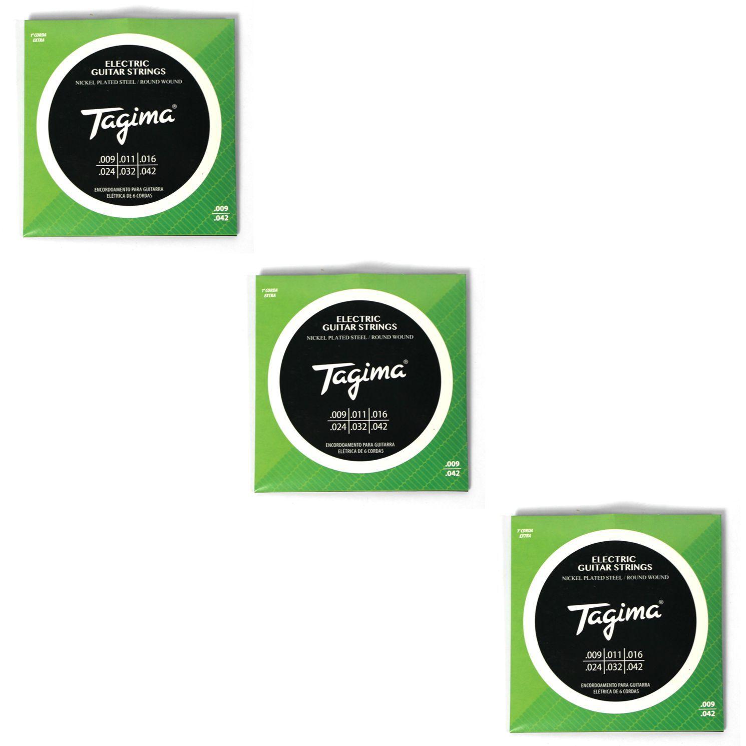 Encordoamento para Guitarra 009 Tagima - TGT-009 - 03 Unidades