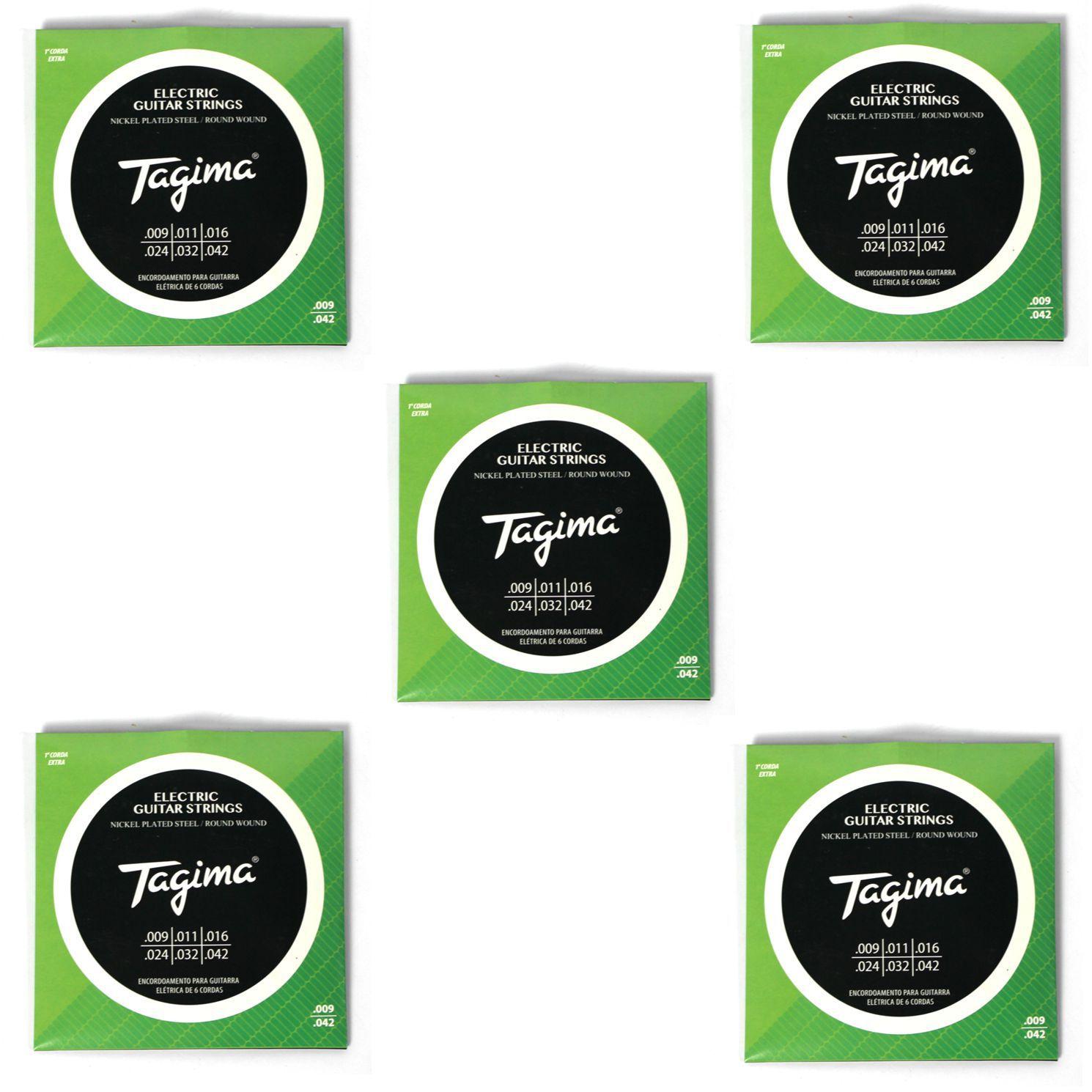 Encordoamento para Guitarra 009 Tagima - TGT-009 - 05 Unidades